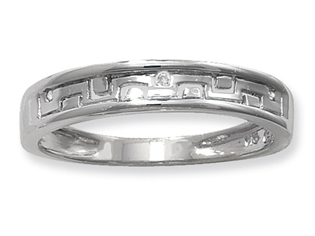 Esse 4 Silver Collection Diamond Set Ring