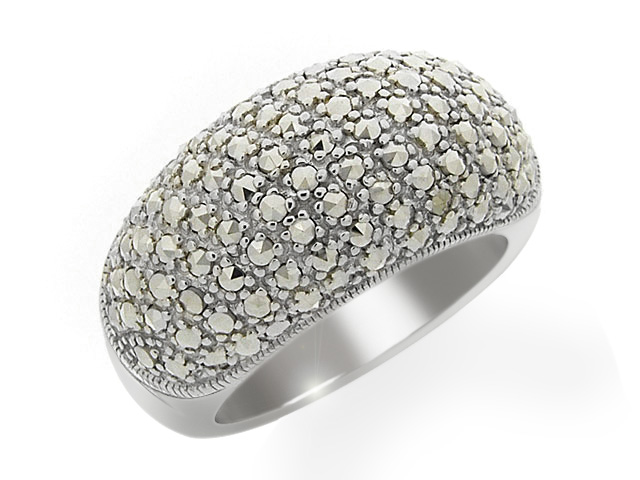 Silver Marcasite Cocktail Ring