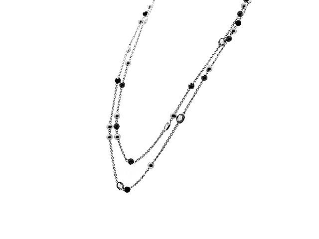 Silver Multi Gemstone Necklace
