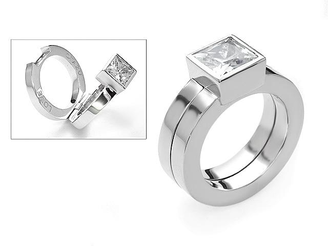 Otazu Silver CZ Ring