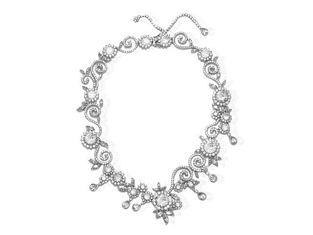 Otazu Silver White CZ 41cm Necklace