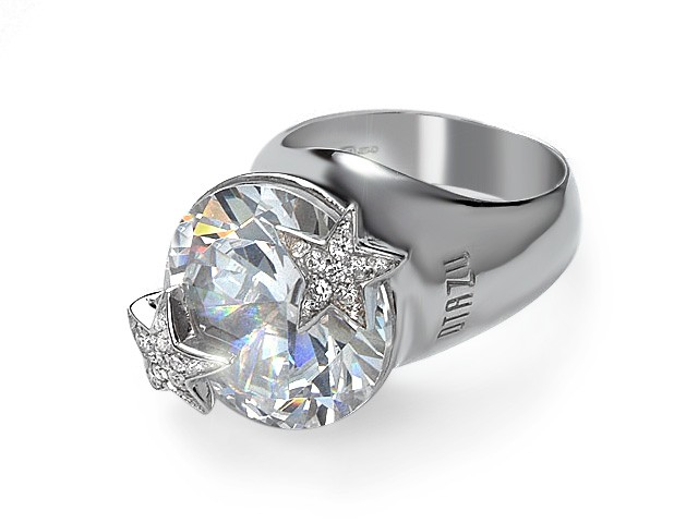 Otazu Silver Collection White CZ Ring