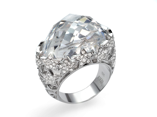 Otazu Romantic Collection Silver White CZ Ring