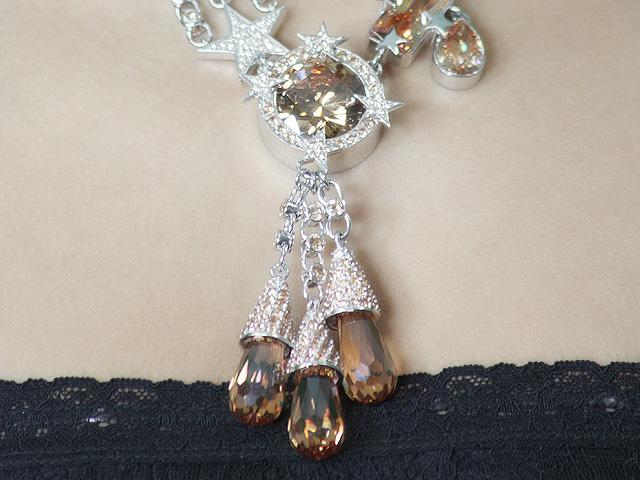 Otazu Silver Champagne CZ Necklace