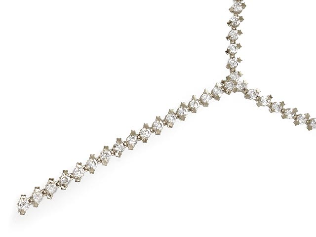 Otazu Silver Collection White CZ Necklace 42cm Chain