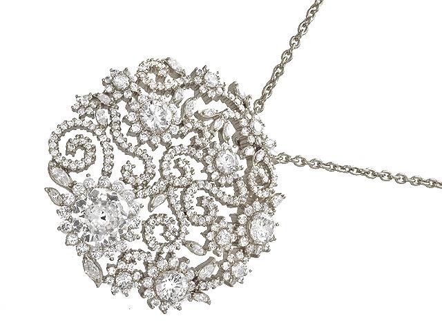Otazu Silver White CZ 100cm Necklace
