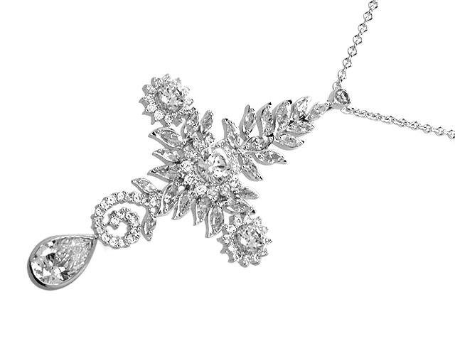 Otazu Silver CZ 42cm Necklace