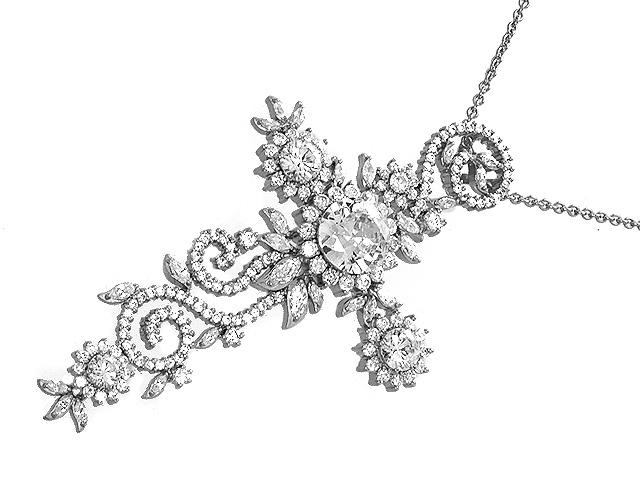 Otazu Silver CZ Necklace