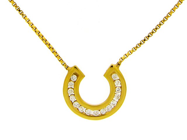 9ct Yellow Gold CZ Necklace