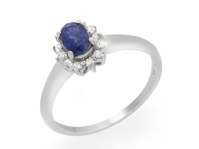 9ct White Gold Sapphire