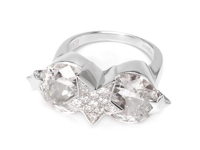 Otazu Silver White Cubic Zirconia Ring