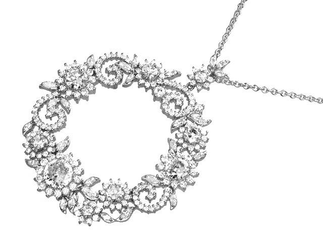 Otazu Silver White CZ 42cm Necklace