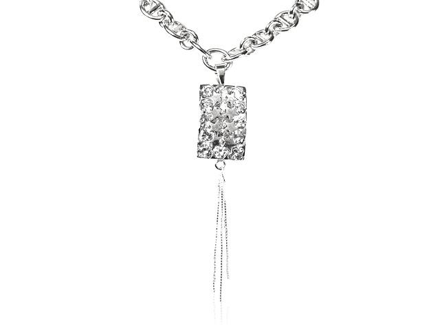 Otazu Silver CZ Link Chain Necklace