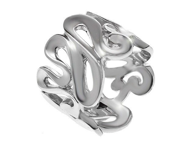 Zandra Rhodes SIlver Oriental Whisper Ring