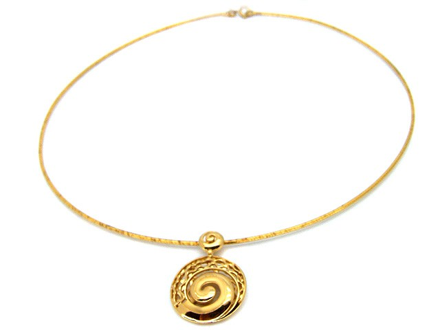 ZR Gold Plated Silver Necklace