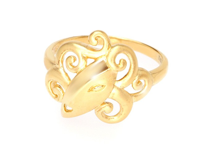 ZR Manhattan Lady Gold Plated Silver Ring
