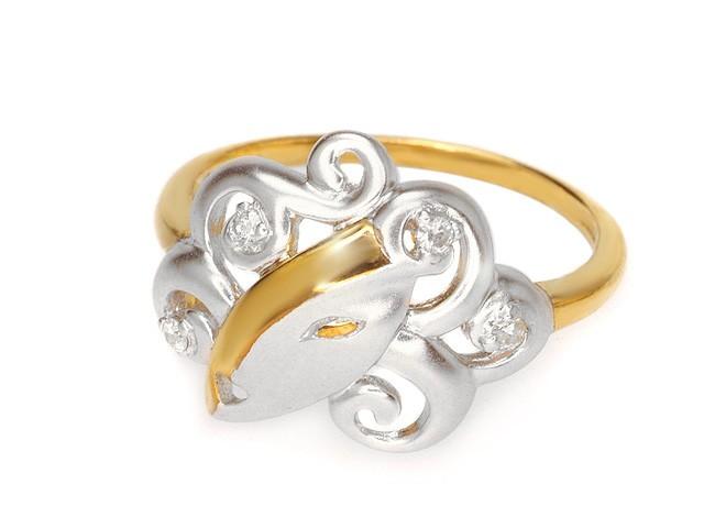 ZR Two Tone Manhattan Lady Diamond Silver Ring