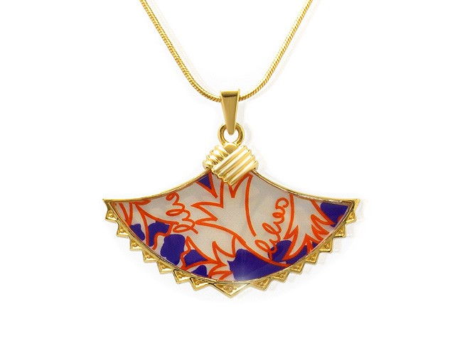 Zandra Rhodes Plated Silver Mother of Pearl Necklace