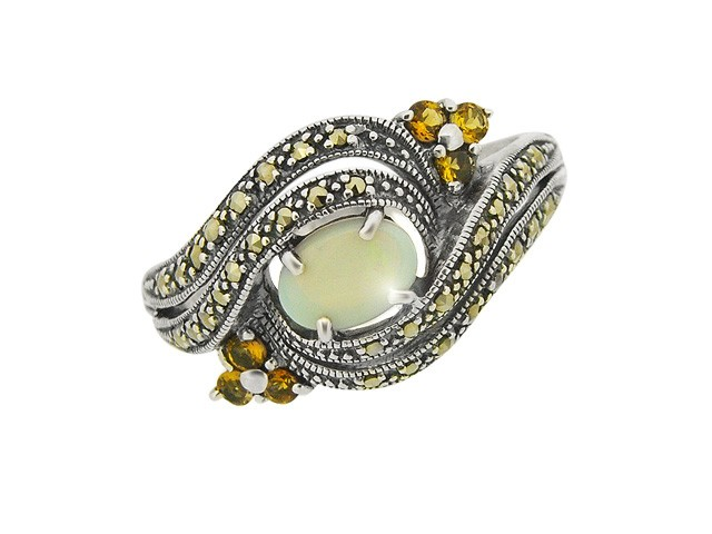 925 Sterling Silver Opal, Citrine 