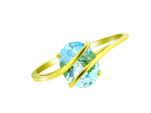 9ct Yellow Gold Sky Blue Topaz Ring