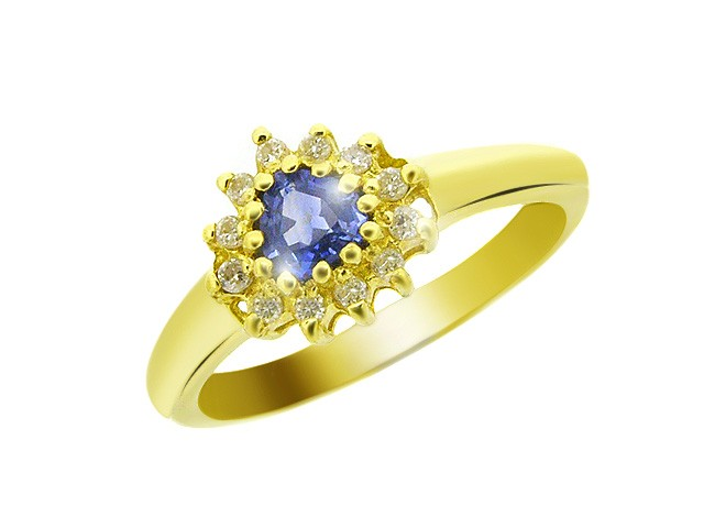 9ct Yellow Gold Sapphire 