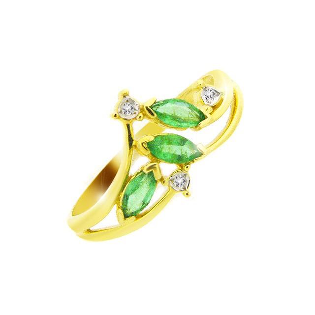 9ct Yellow Gold Emerald