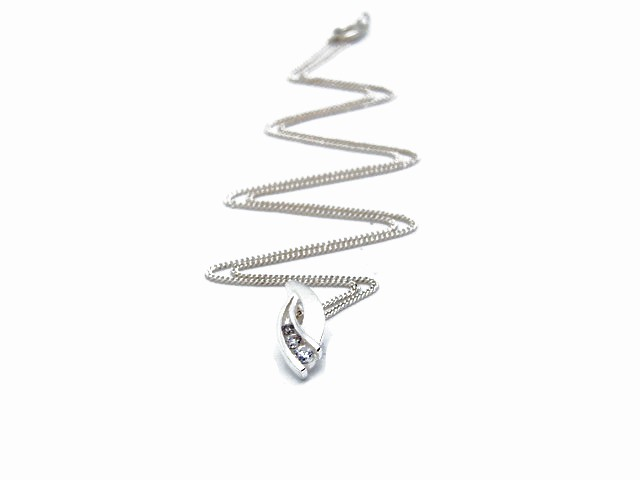 Classic Silver Necklace with White CZ