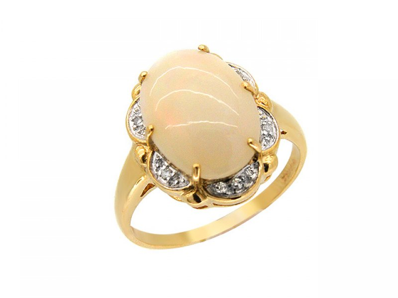 9ct Yellow Gold Opal 
