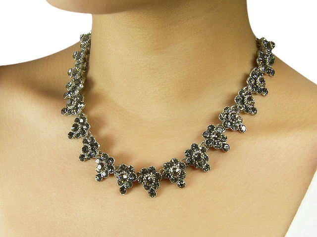 Otazu Crystal Black Diamond Necklace