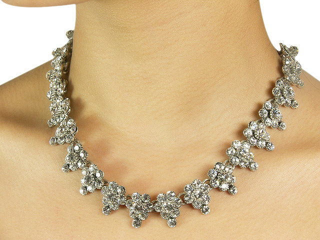 Otazu White Crystal Necklace