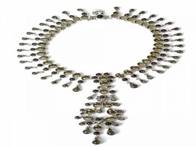 Otazu Black Diamond Crystal Necklace