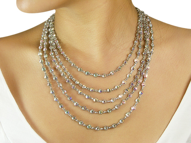 Otazu Necklace with Crystal Aurore Boreale Cr