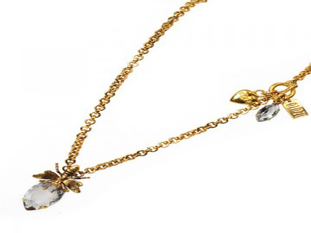 Otazu Gold Tone Crystal Necklace