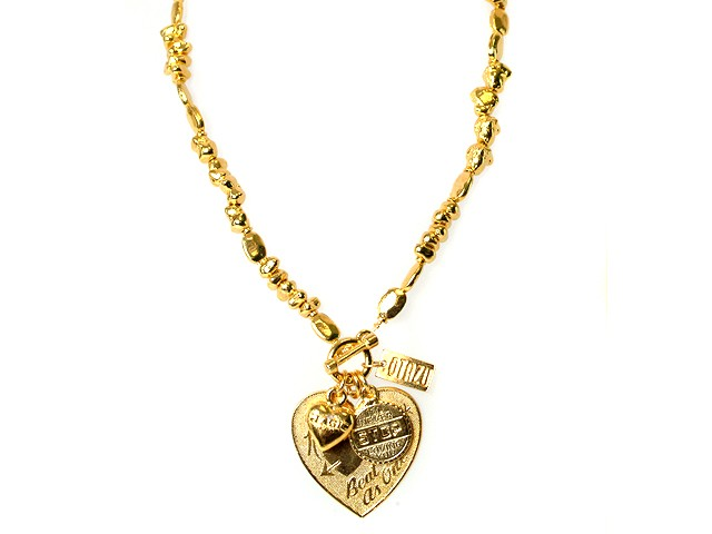 Otazu Gold Tone Heart Necklace