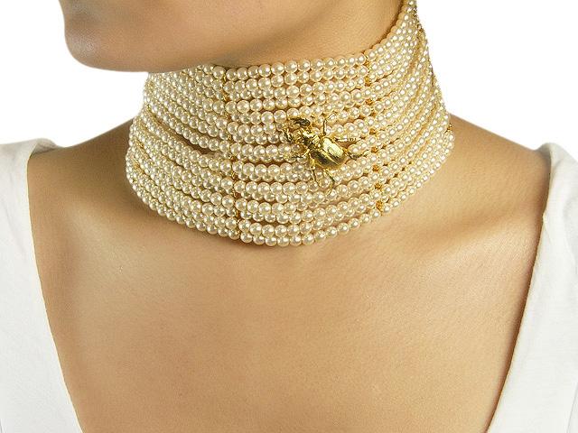 Otazu Gold Tone Cream Pearl
