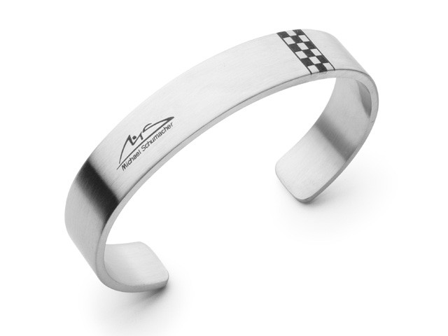 M. Schumacher Chequered Flag Cuff Bangle Size 1