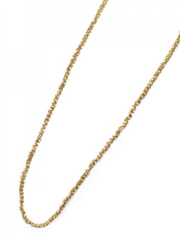 Otazu Gold Tone 110cm White Crystal Necklace