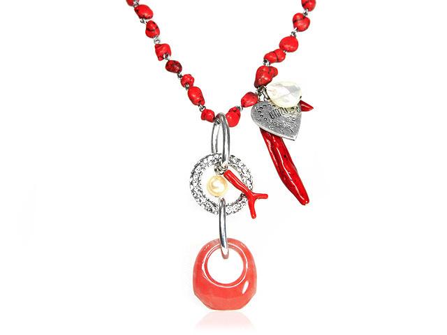 Otazu Multi Stone Drop Necklace