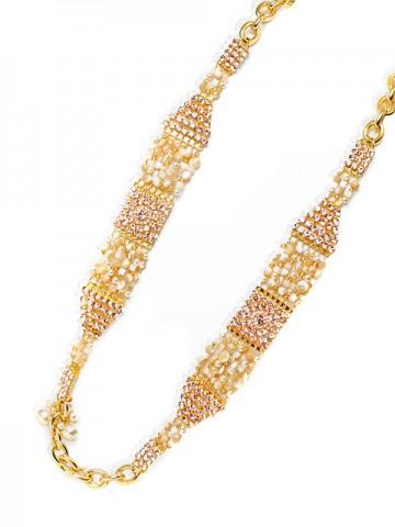 Otazu Gold Tone Crystal