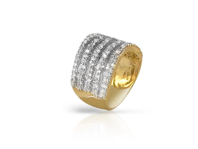 9ct Yellow Gold 2.0ct H/SI Diamond Ring Size: P