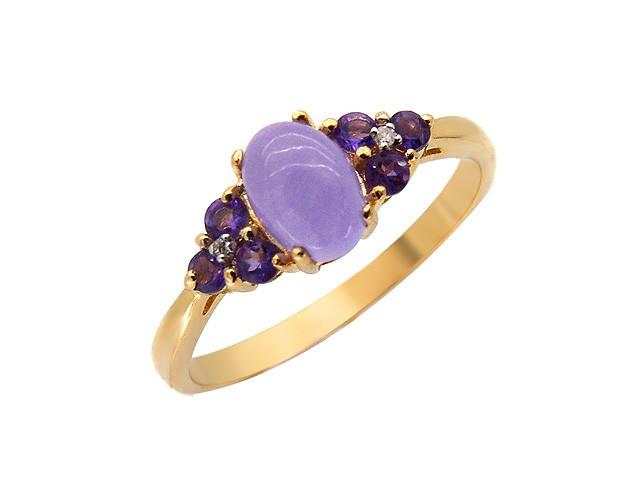 9ct Yellow Gold Multi Gemstone Ring Size: O