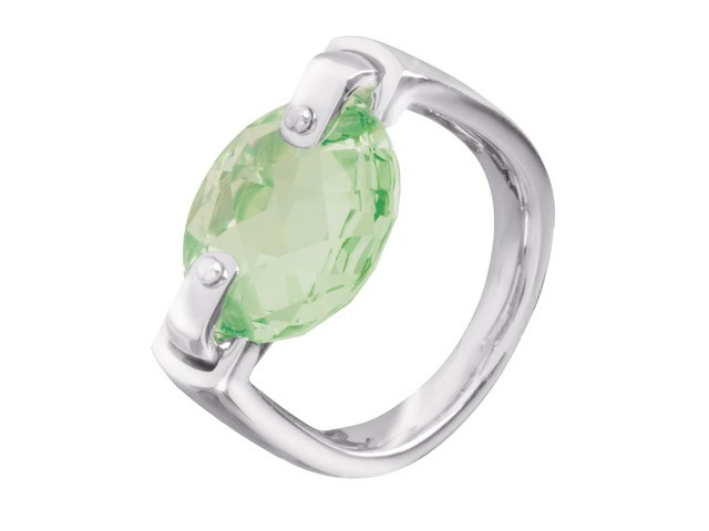 Cai Green Cubic Zirconia Silver Ring