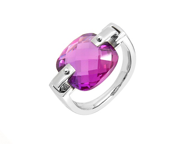 Cai Amethyst Cubic Zirconia Silver Ring