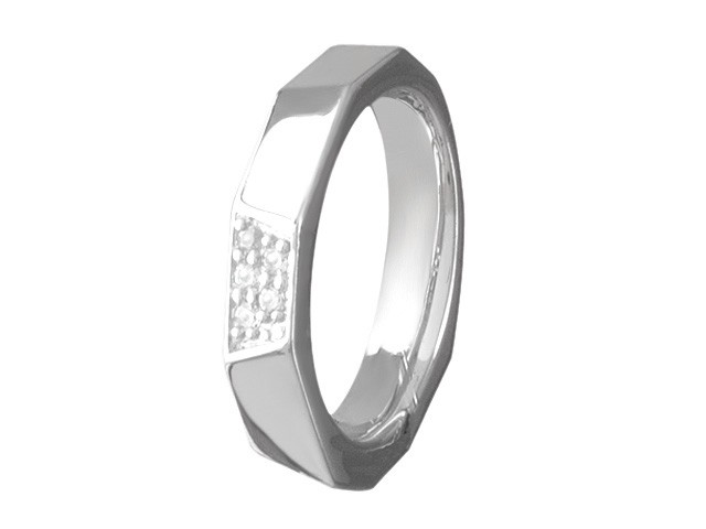 Cai Silver Cubic Zirconia Ring