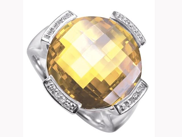 Cai Pretty Woman Collection Alexandrite CZ Silver Ring
