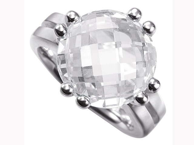 Cai Pretty Woman Collection CZ Silver Ring