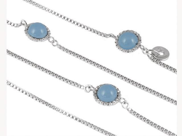 Cai Contemporary Jade Silver Loop Necklace