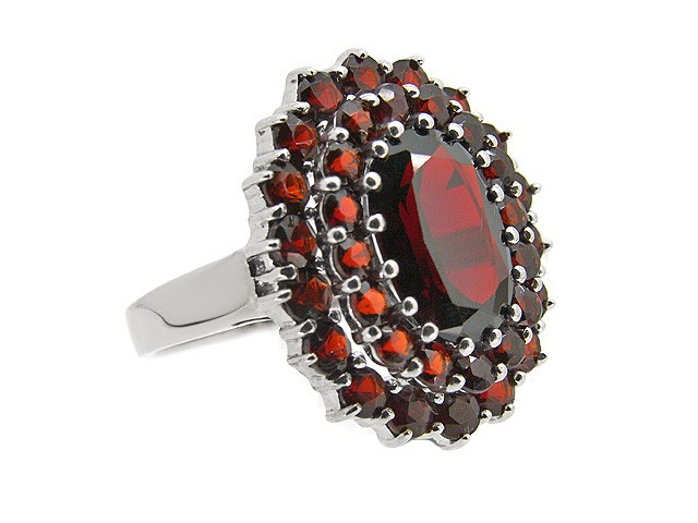925 Silver Garnet Cocktail Ring