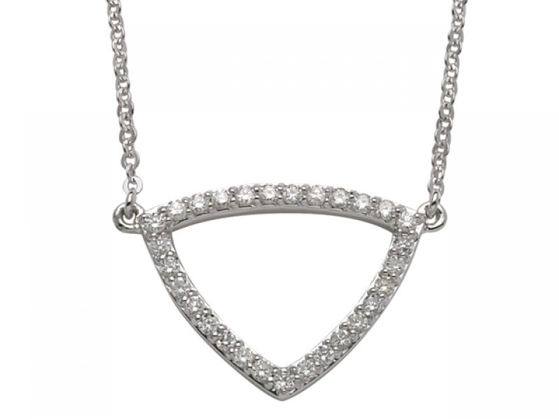 H Gringoire 18ct White Gold Diamond Necklace