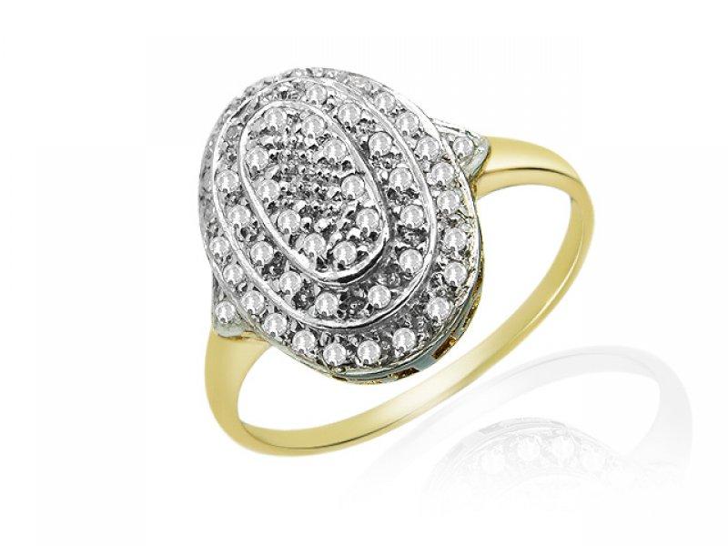 9ct Yellow Gold .025ct Diamond Cocktail Ring